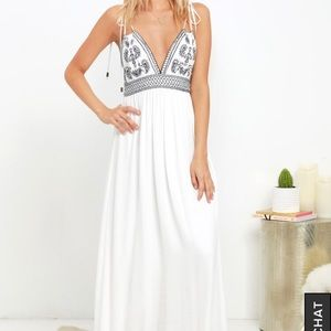 Lulus Embroidered Maxi Dress